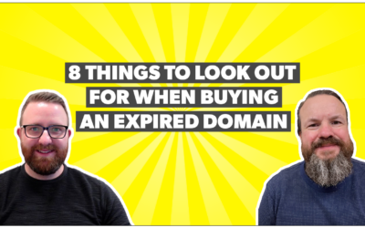 8 things to look out for when buying an expired domain