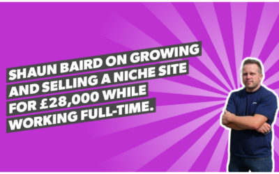 Shaun Baird on growing and selling a niche site for £28,000 while working full-time.